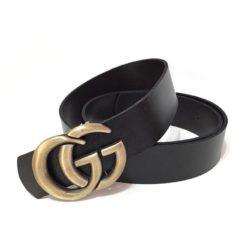 Cinto Gucci Feminino Ouro Velho Couro De Qualidade-0