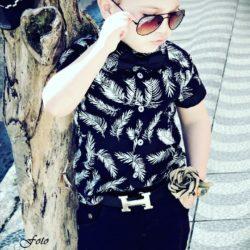 Cinto Infantil e Juvenil Fivela H Griffe-0