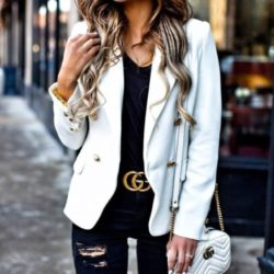 Cinto Gucci Feminino Ouro Velho Couro De Qualidade-295