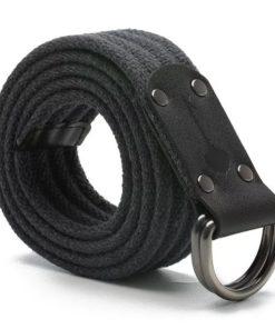 Cinto Masculino Em Lona Reforçada Plus Size 1,50cm Couro-0