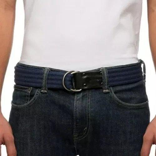 Cinto Masculino Em Lona Reforçada Plus Size 1,50cm Couro-258