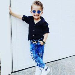 Cinto Infantil e Juvenil Fivela H Griffe-274