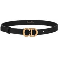 Cinto Christian Dior Couro Fivela Dourada